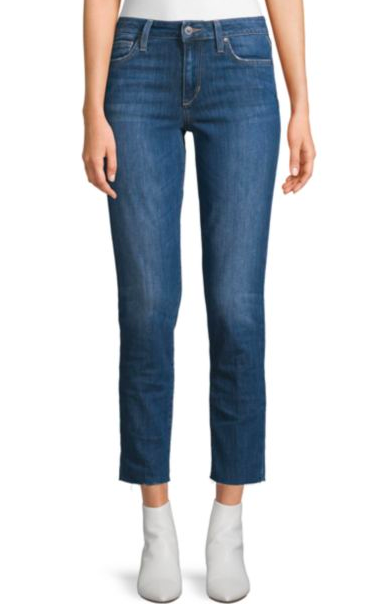 Joe's Jeans: A straight jean is a necessity for your closet. Joe's has a fantastic fabric composition and they are SO flattering. Highly recommend!