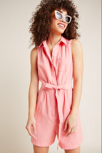 Anthropologie: Collared Romper  I'm obsessed.