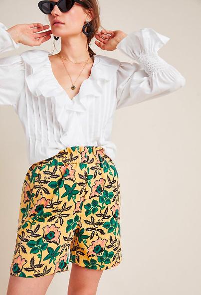 Anthropologie: Safari Shorts  Prints and ruffles??? Yes, please!