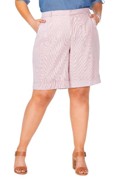 NYDJ: Plus Boardwalk Shorts  Bring on that Summer linen!