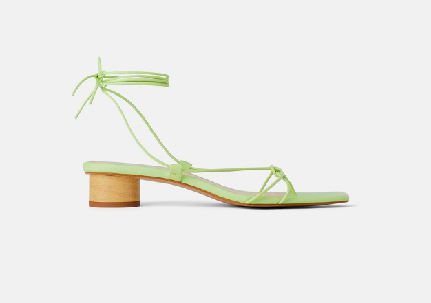 Zara: Ankle Strap Sandal  Hellooooooooo!! Talk about a artwork for your feet! Perfect with a simple dress or jeans to let these shine.