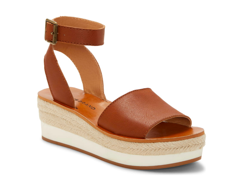 "Lucky Brand: Platform Wedge  The white sole adds a sportier flair to a more ""vacation-vibes"" sandal."