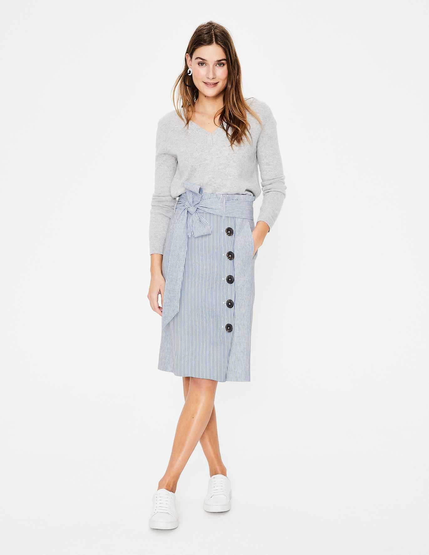 Boden Leonora Skirt  Just an easy, on-the-go skirt! Pop it on with a simple grey tee and tenny's or dress it up with a lace blouse and wedges!