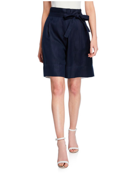 Donna Karan Tie Waist Shorts