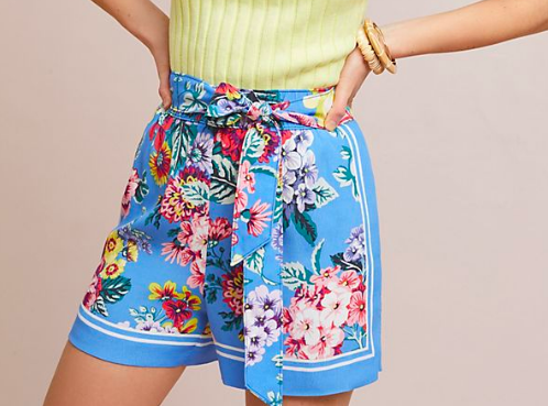 Scarf Printed Shorts