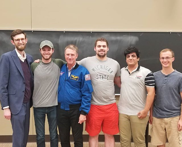 My lab group with Astronaut Michael Foale