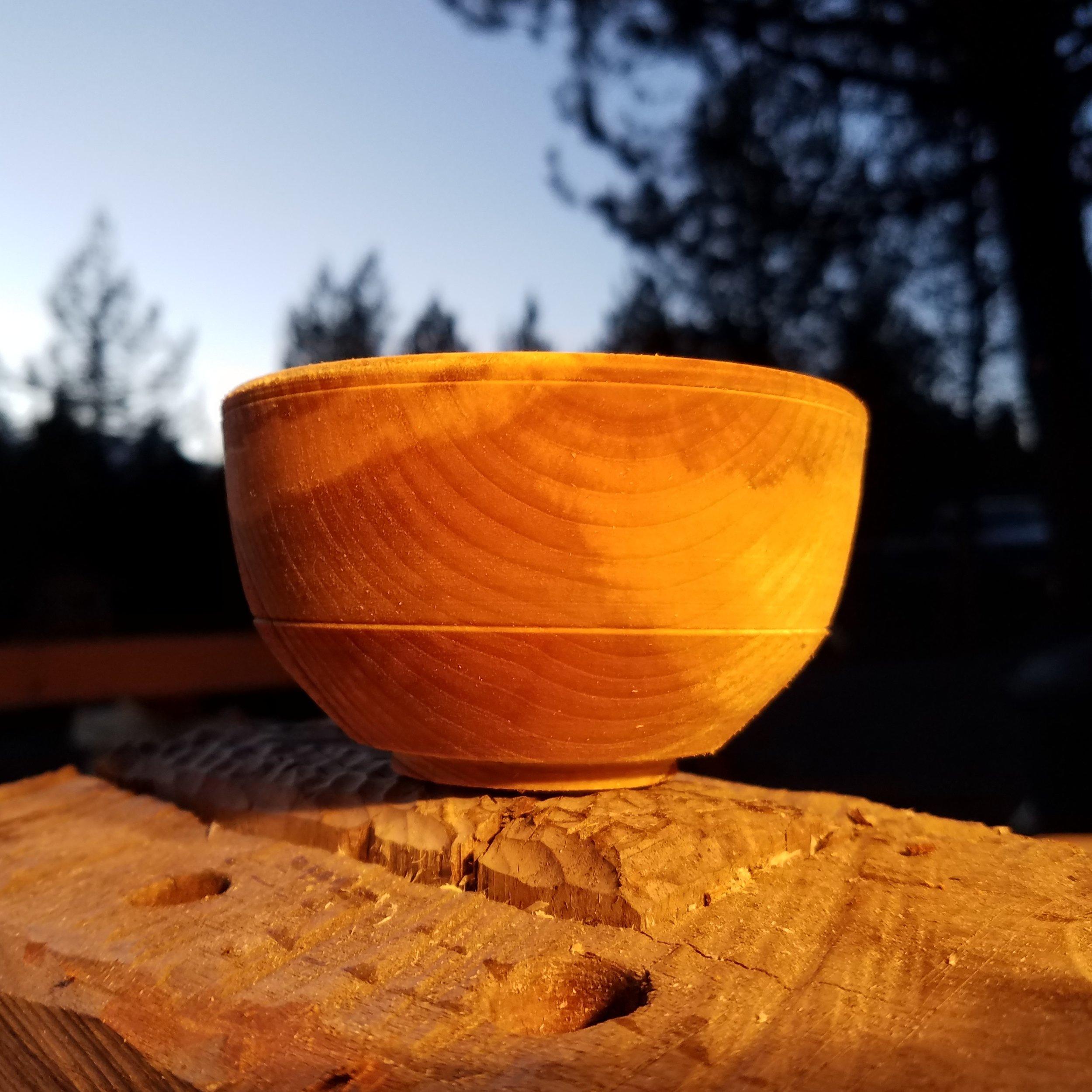 Spalted Birch Rice Bowl -fresh turned green wood.jpg