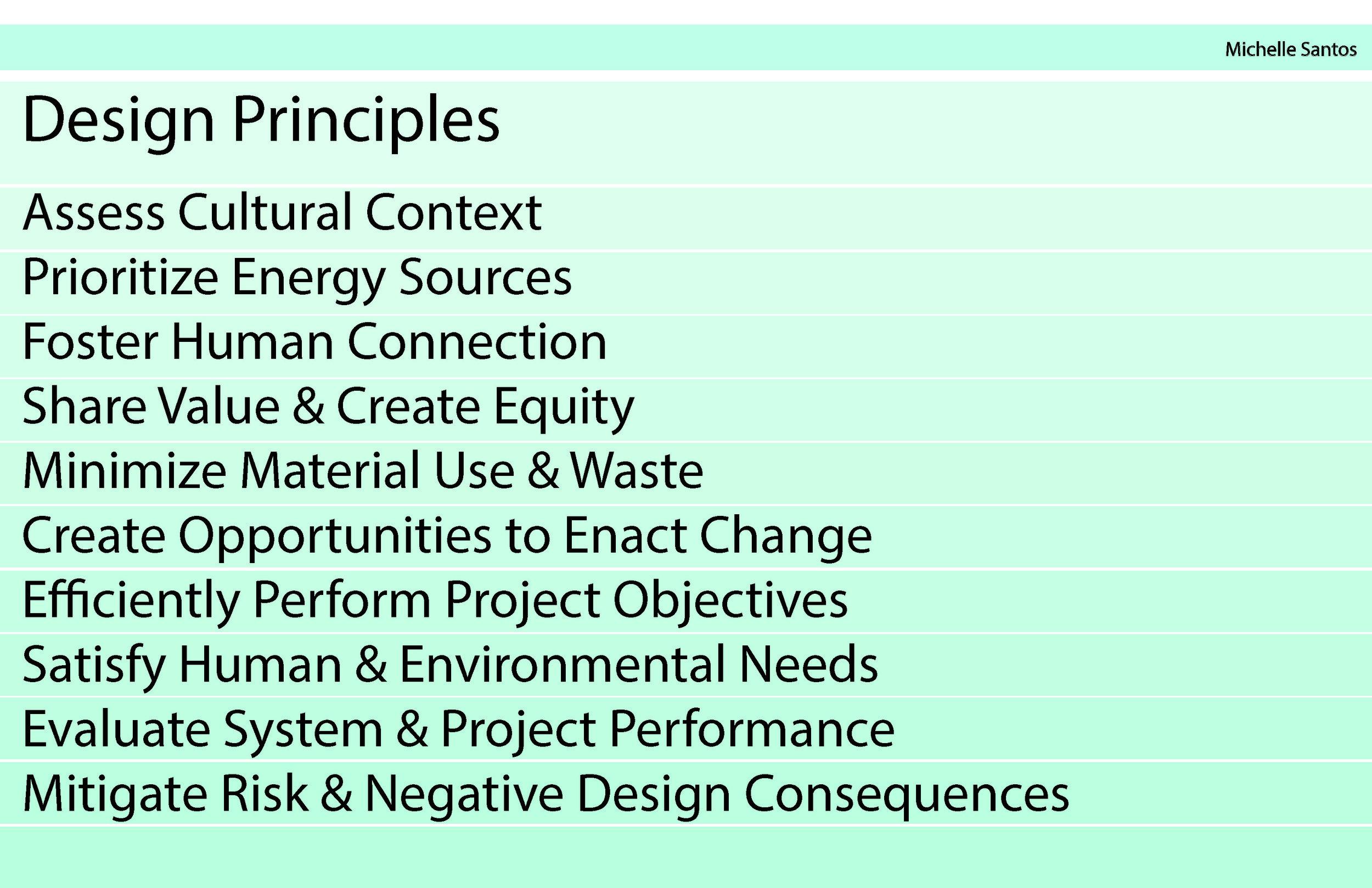 Personal Design Principles - Michelle Santos 2018