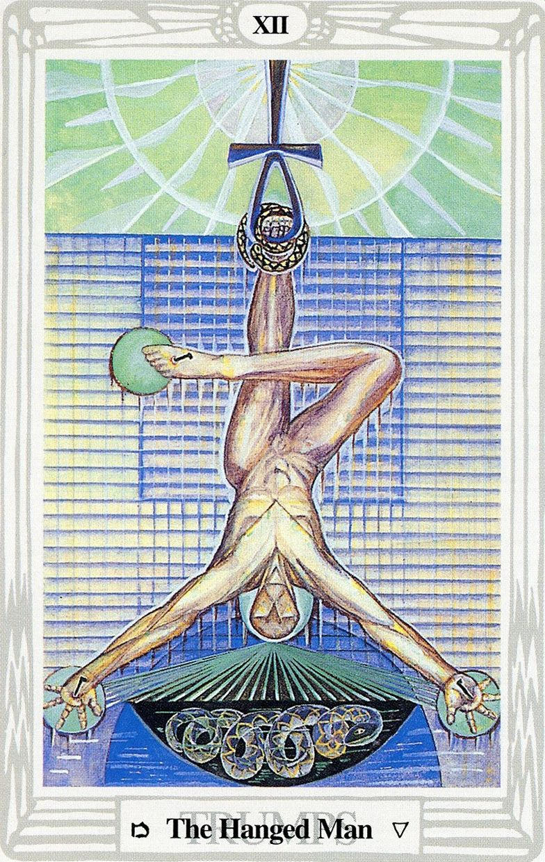 The Hanged Man - Releasing energtic patterns and doing things differently.