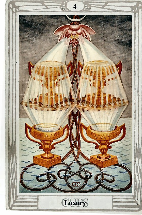 Four of Cups - The importance of stepping into gratitude, seeing things as abundant, and celebrating yourself.