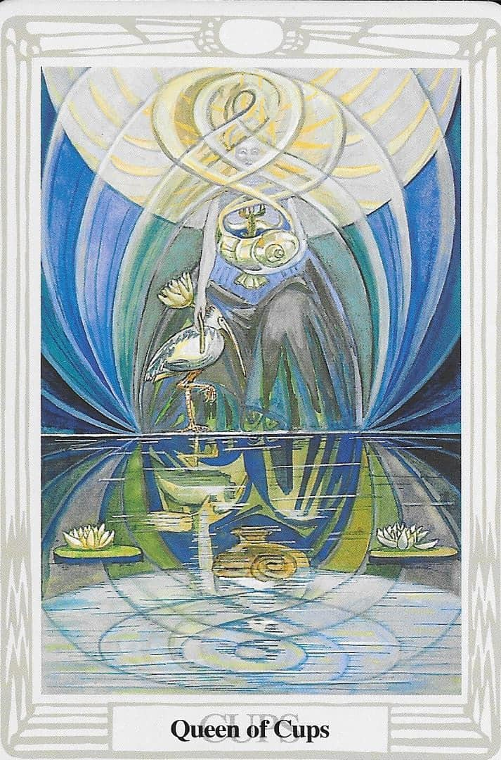 Queen of Cups - In relationships it's time to drop the guard and be who you are. Trust you will be loved for who you are.