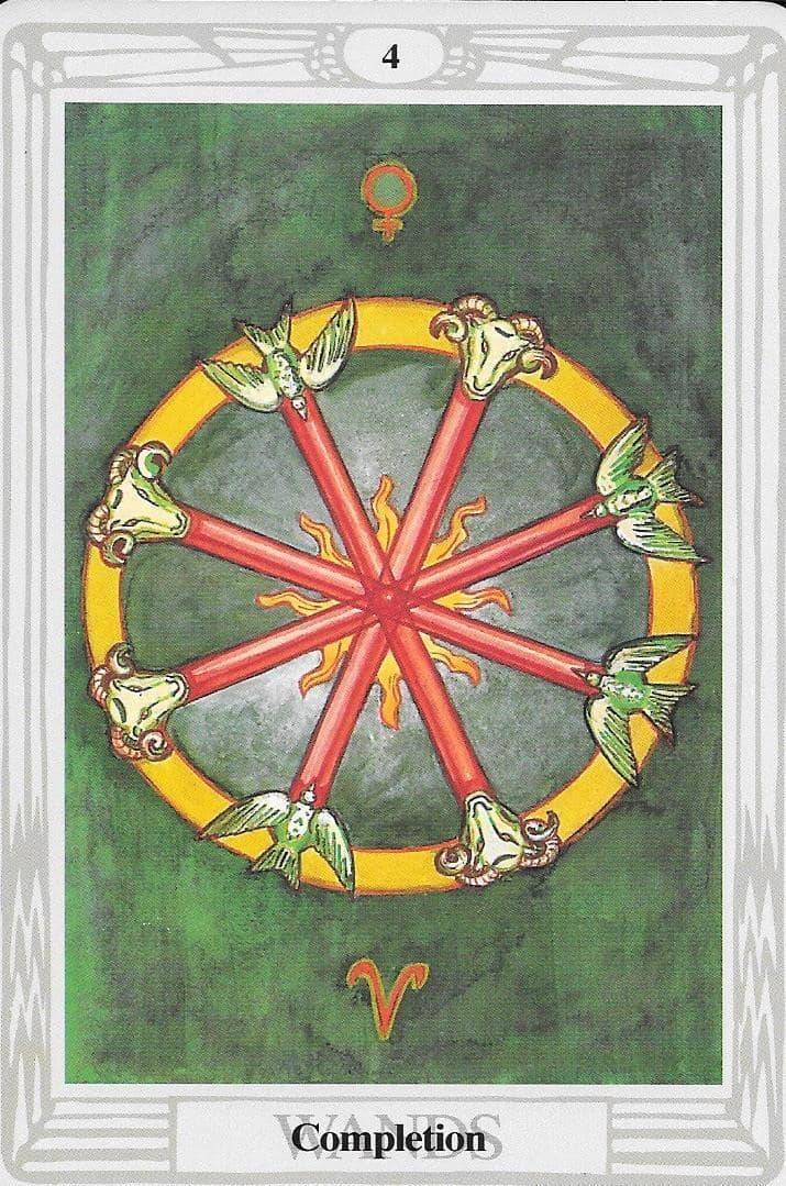 Four of Wands - A cycle of completion.