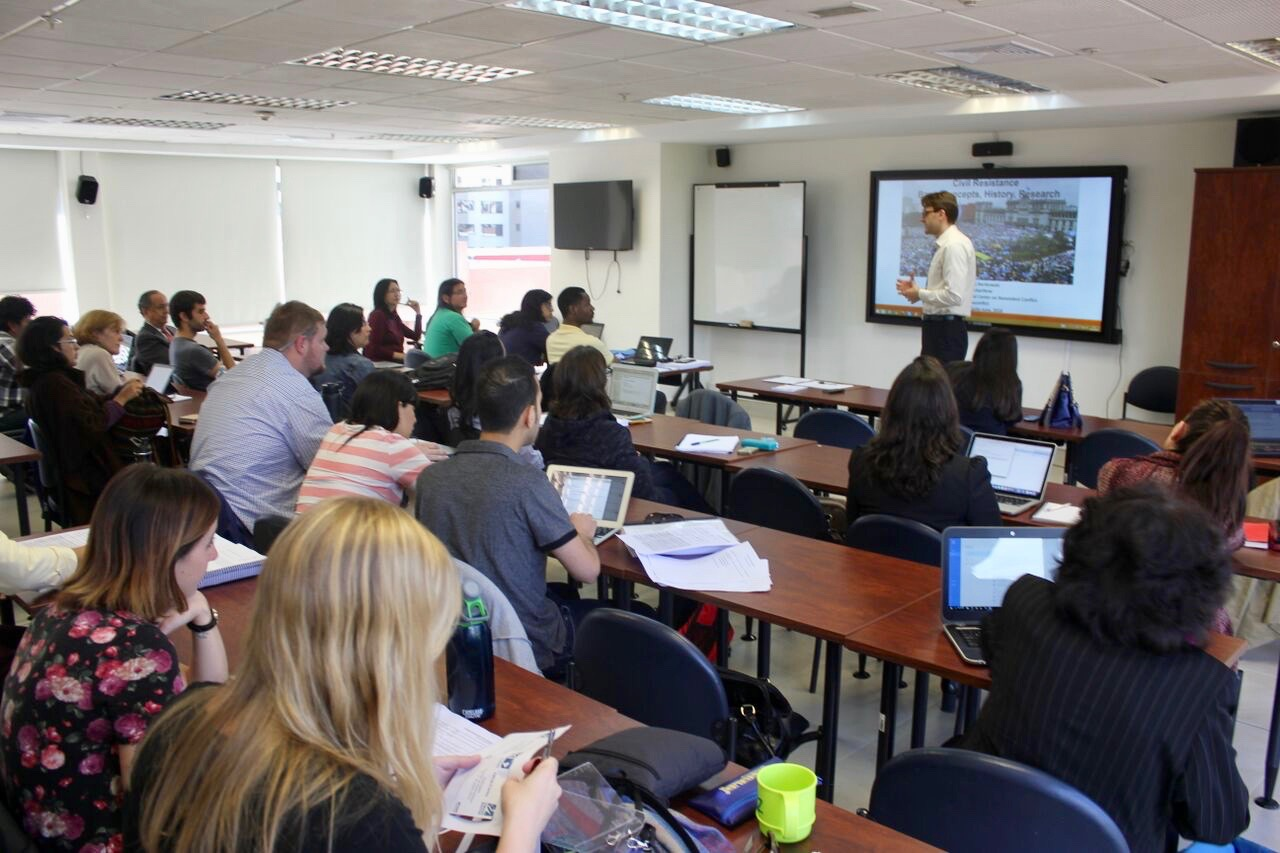 Dr. Maciej Bartkowski from ICNC teaching from case studies.