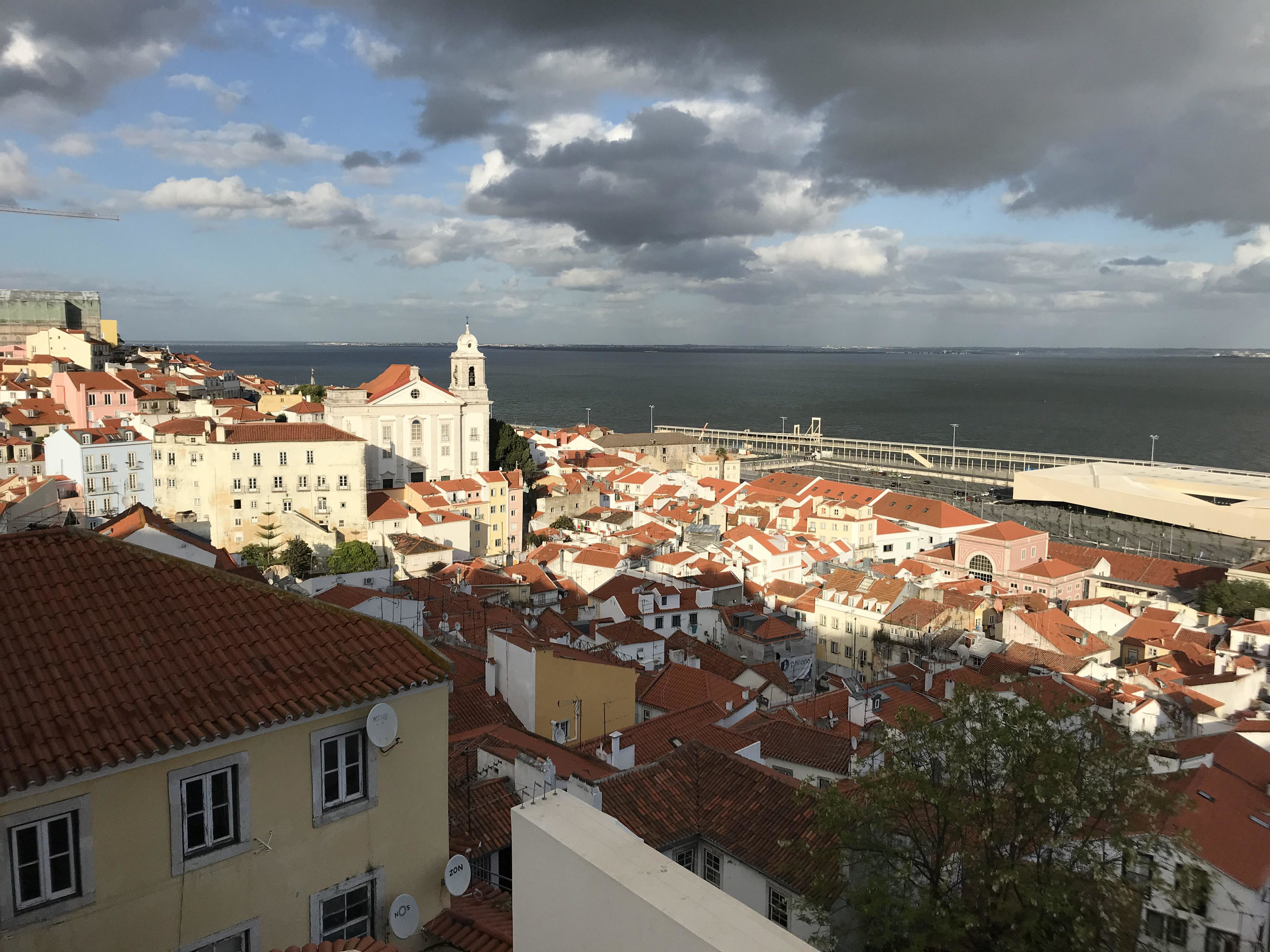 Rooftops of the Alfama neighborhood in Lisbon