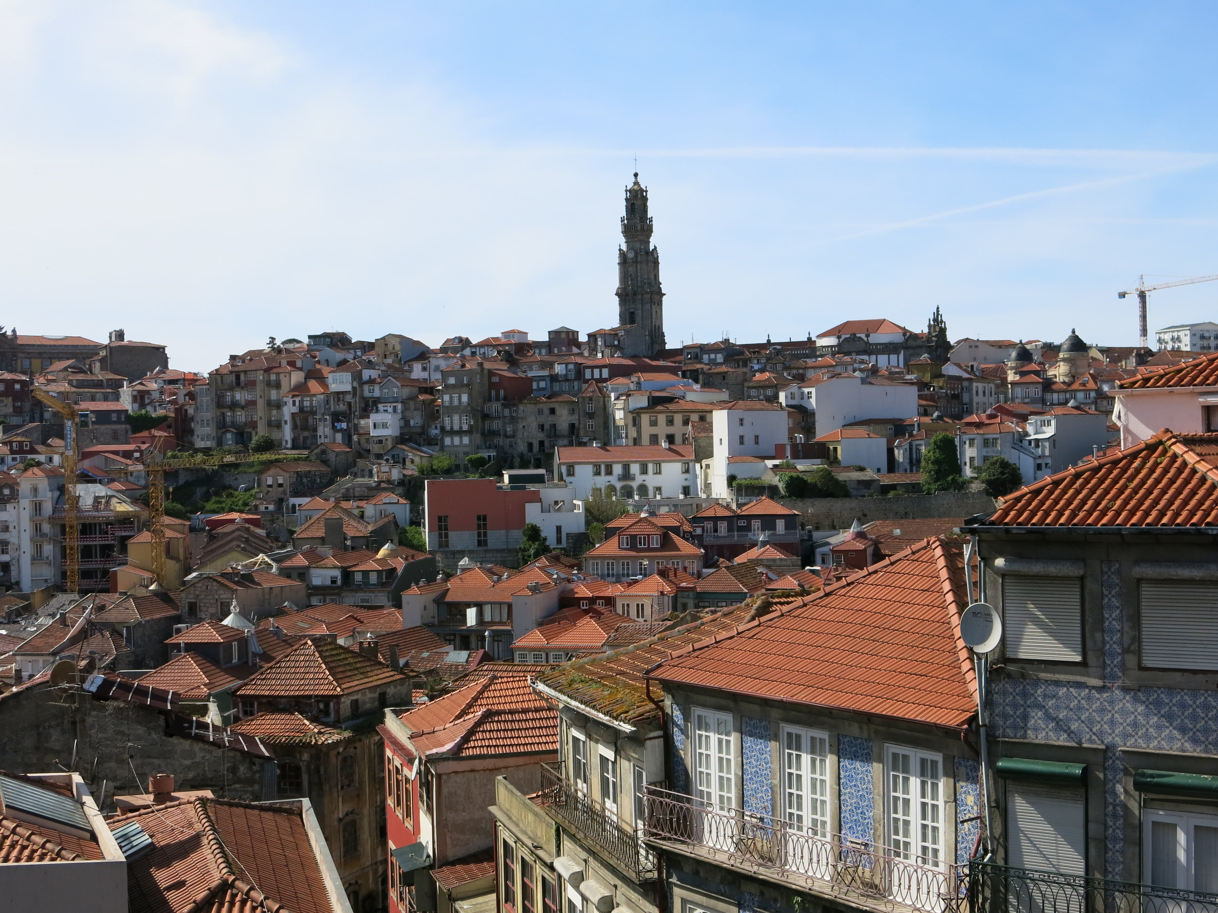 Exploring the rooftops of Porto