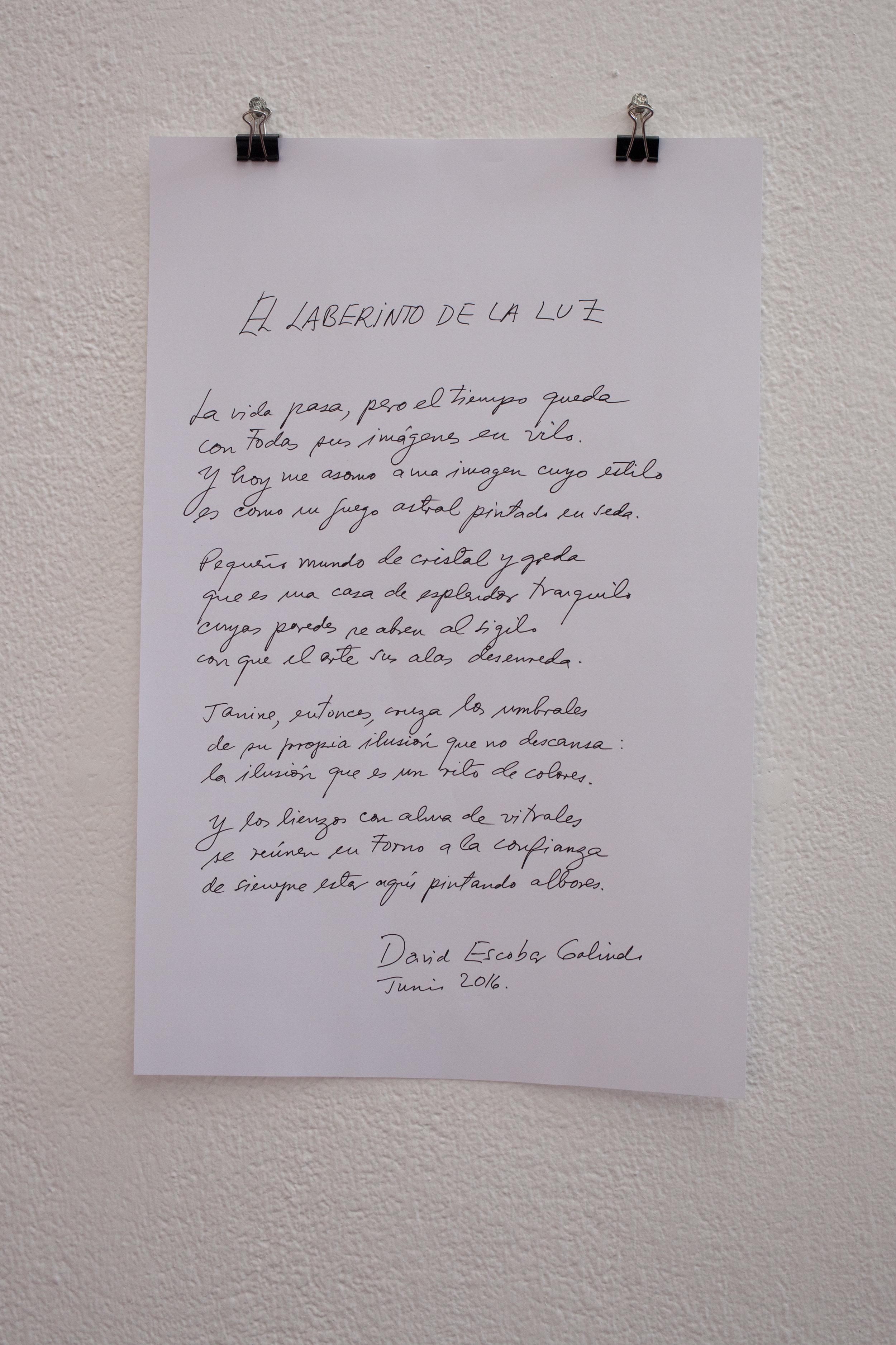 El laberinto de la luz ,David Escobar Galindo,Poesía