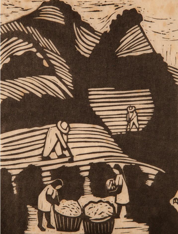 Jorn Bie    El Salvador,  1978  Grabado