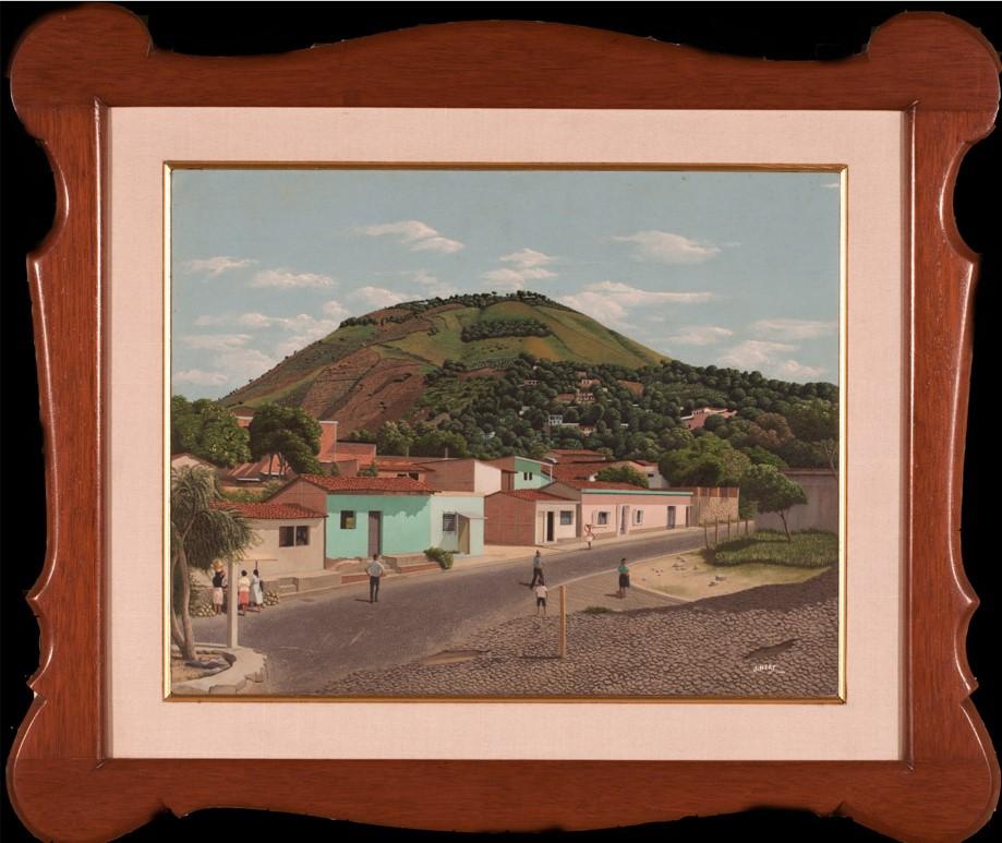 JoséNery    Calle con montaña , 1994  Oleo