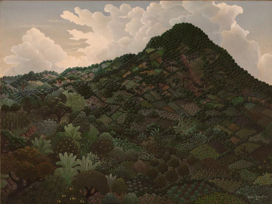 Julio Sequeira    Volcán de San Salvador , 1982  Acrílico