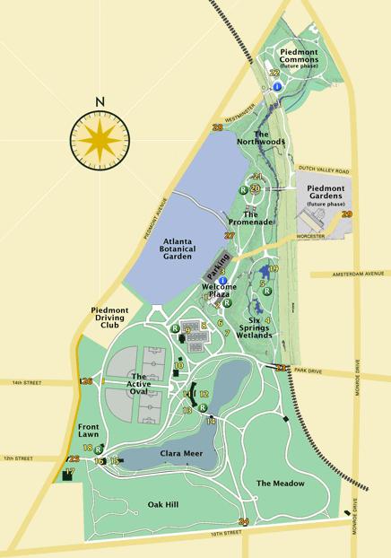piedmont park map more detail