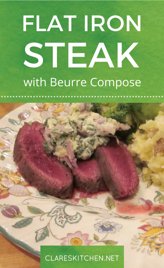 Flat Iron Steak with Beurre Compose