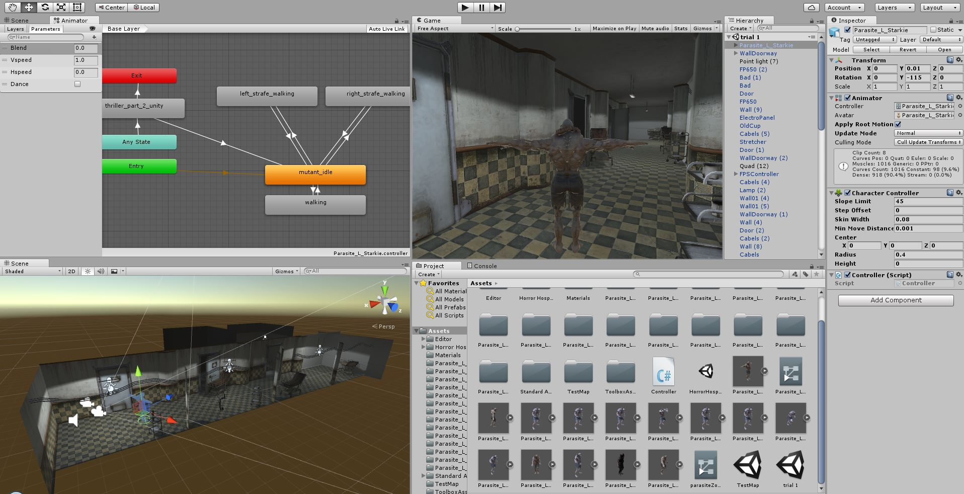Setting the Scene in Unity and setting up movement based on keypress