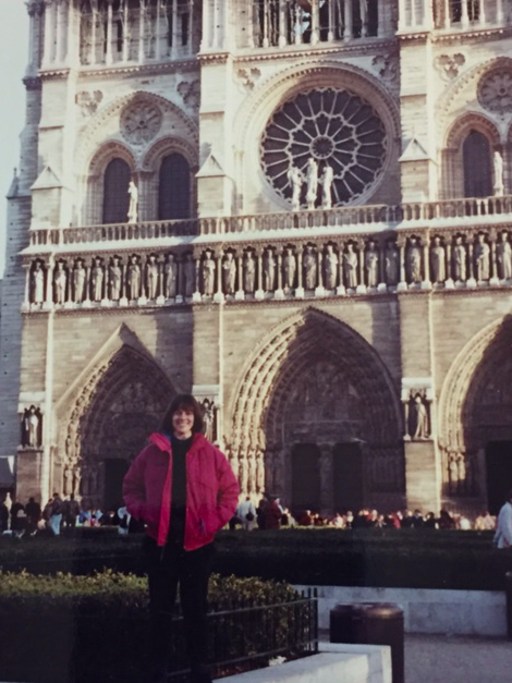 Betsy at Notre Dame, Paris, France