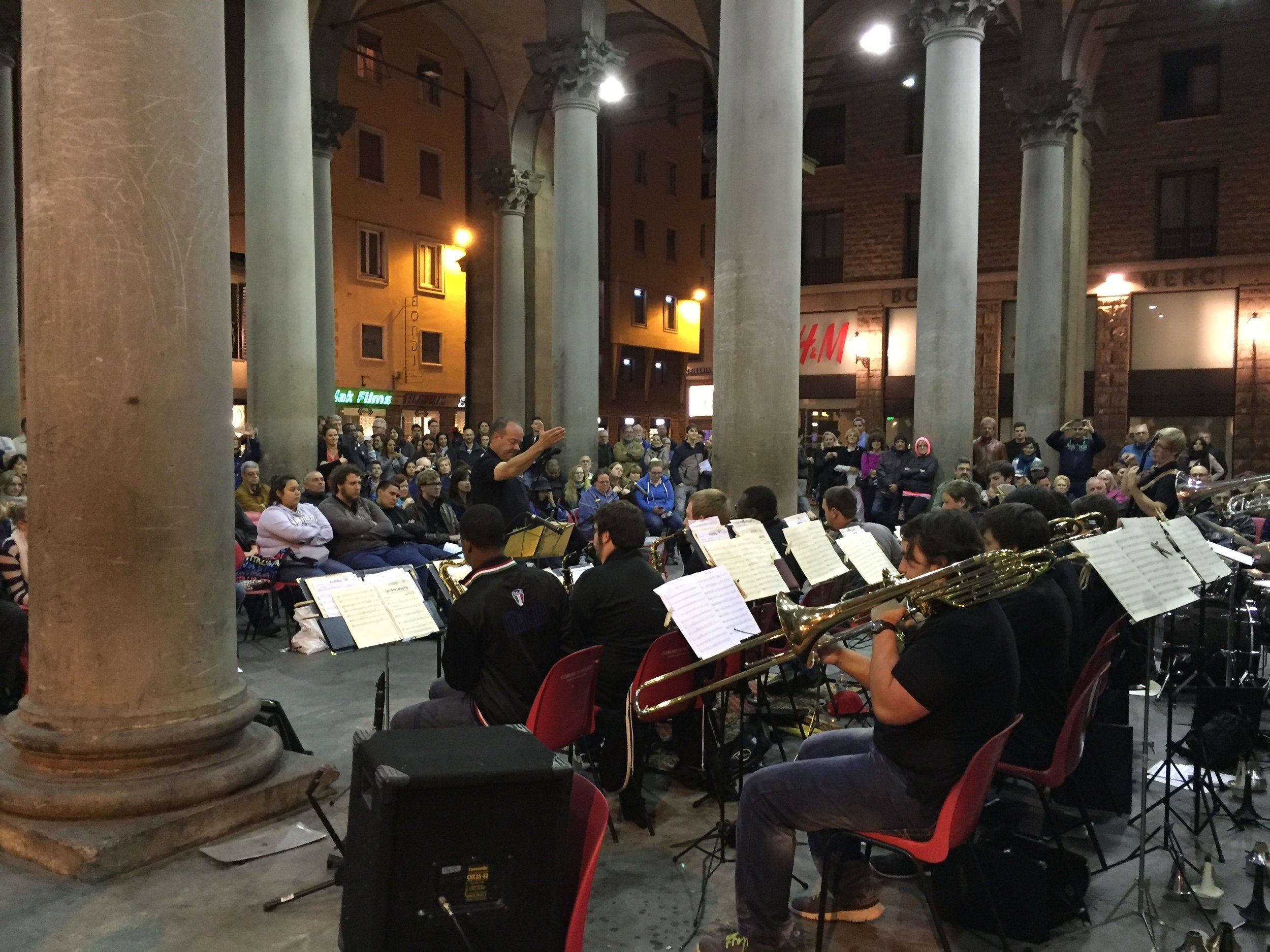 The  Tarleton State University Jazz Ensemble  under the direction of Greg Ball in  Florence, Italy