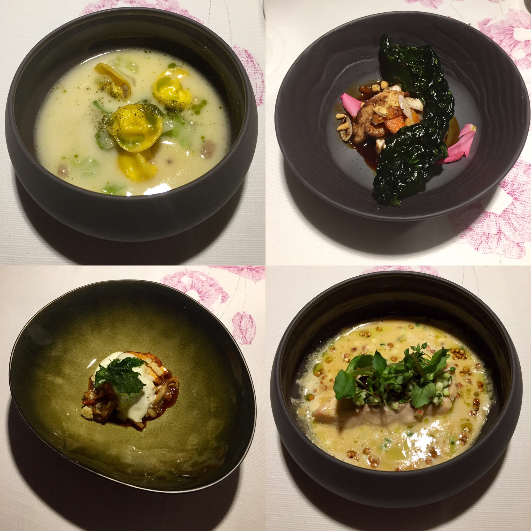 Just a few of the amazing dishes from Hiša Franko