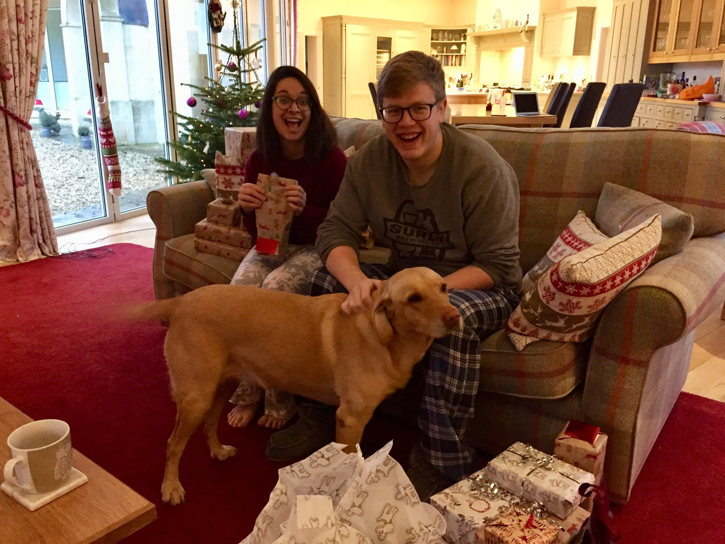 Brook is helping open presents