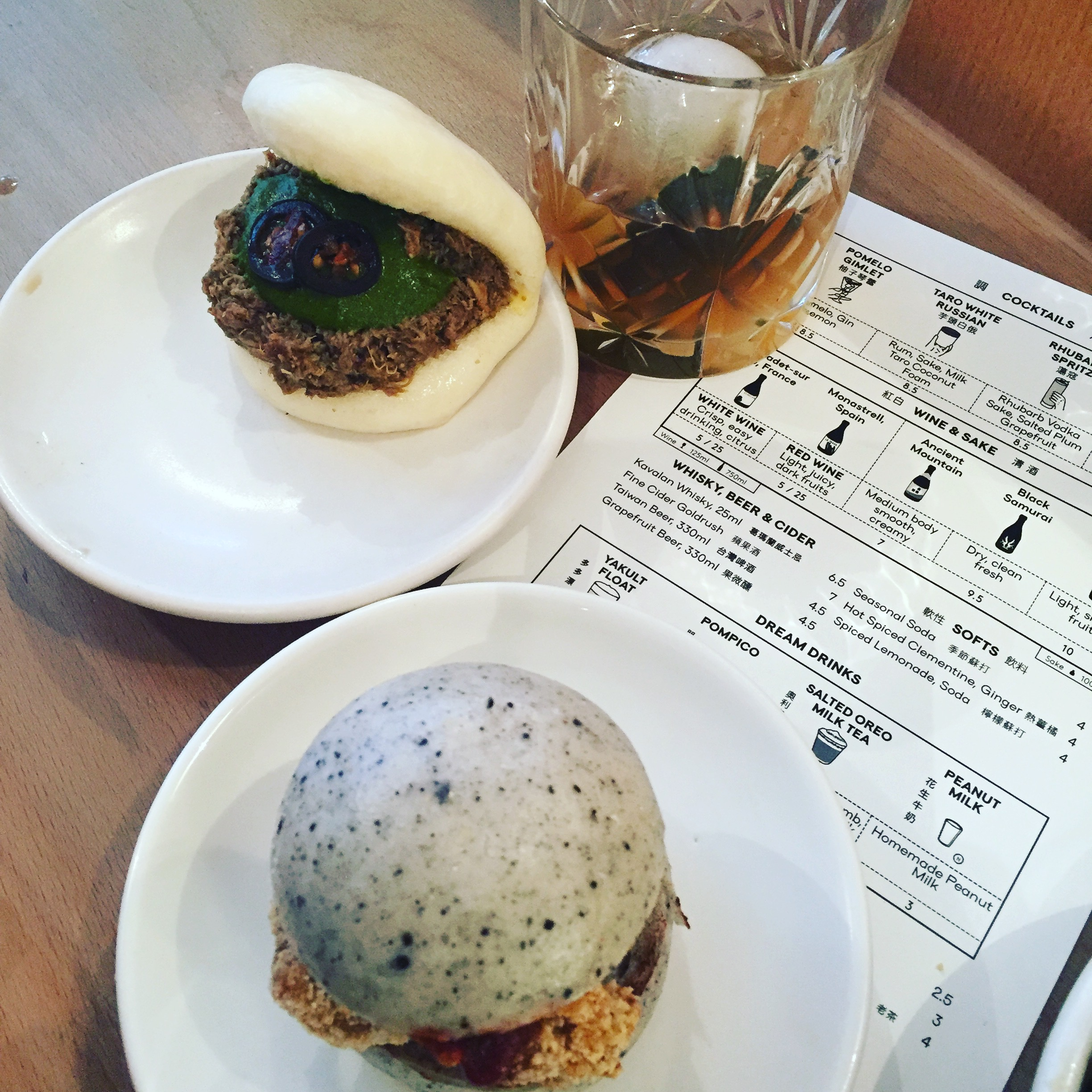 Creative steam buns and a tasty cocktail at Bao Soho