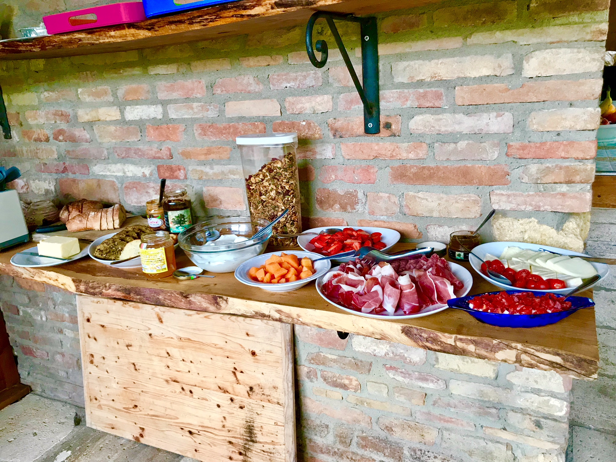 Local produce and charcuterie was always a feature at the villa