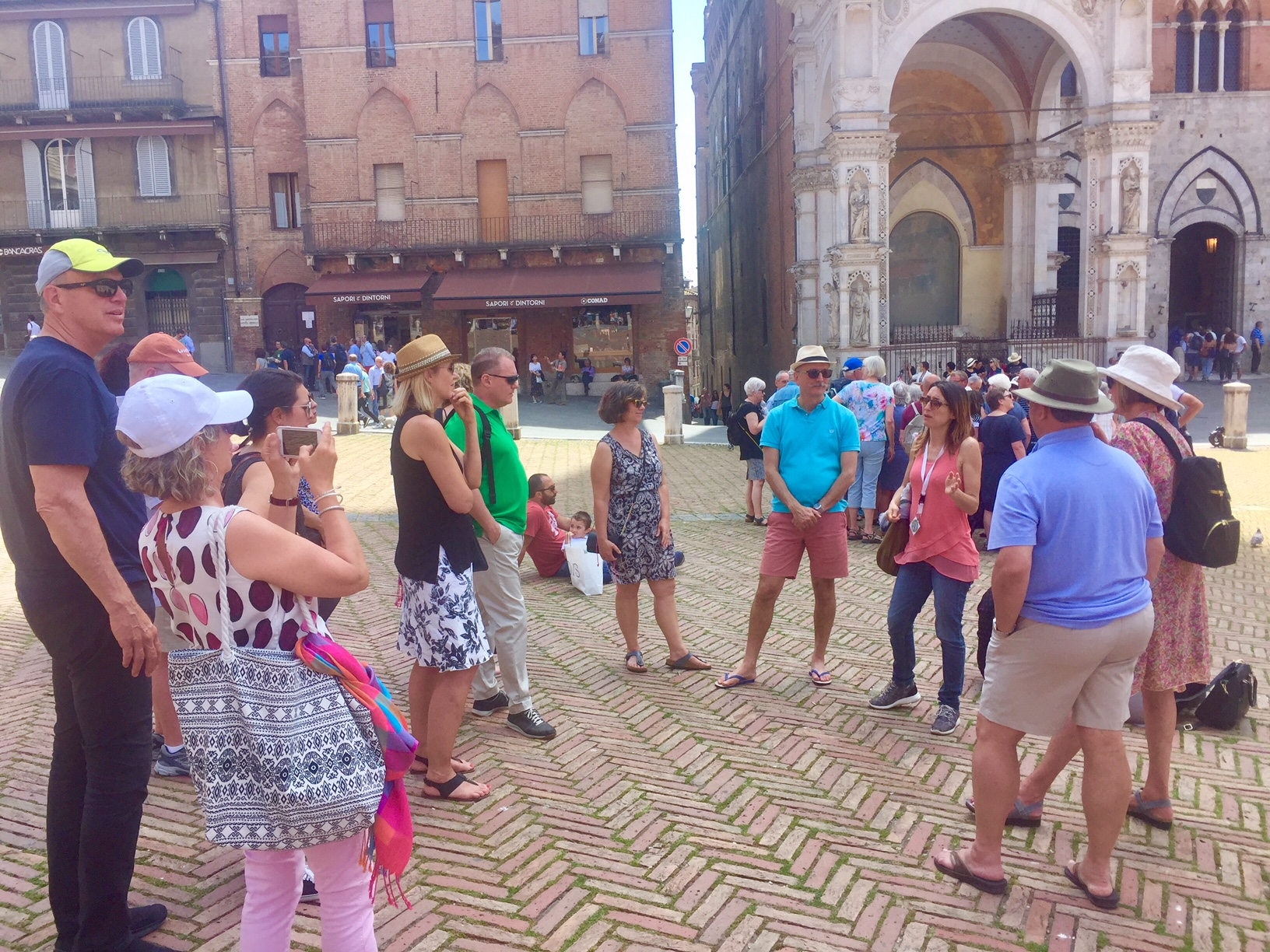 Our guide Silvia talks about the history of Siena on it's famous Piazza del Campo
