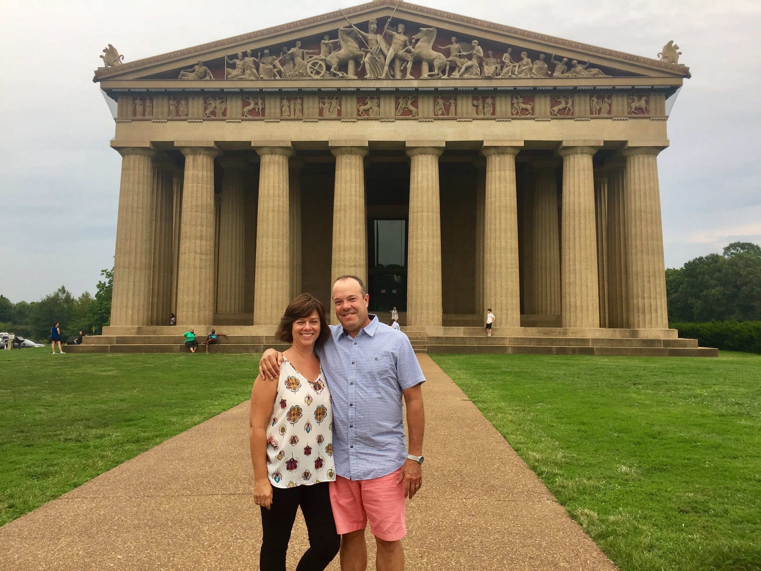 Euro Travel Coach at The Parthenon - in Nashville!