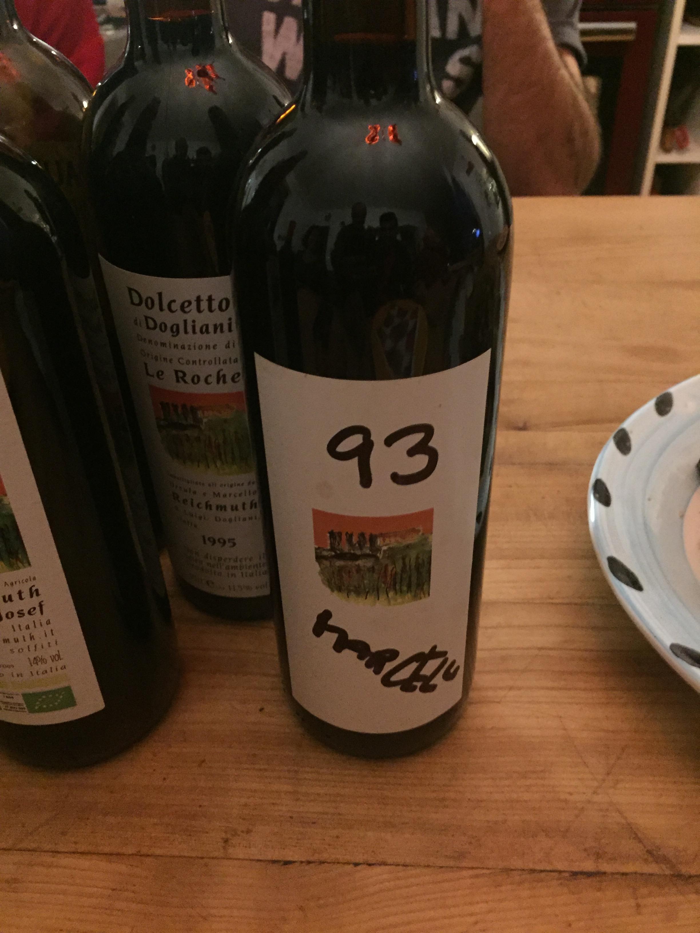 Marcello's amazing wine