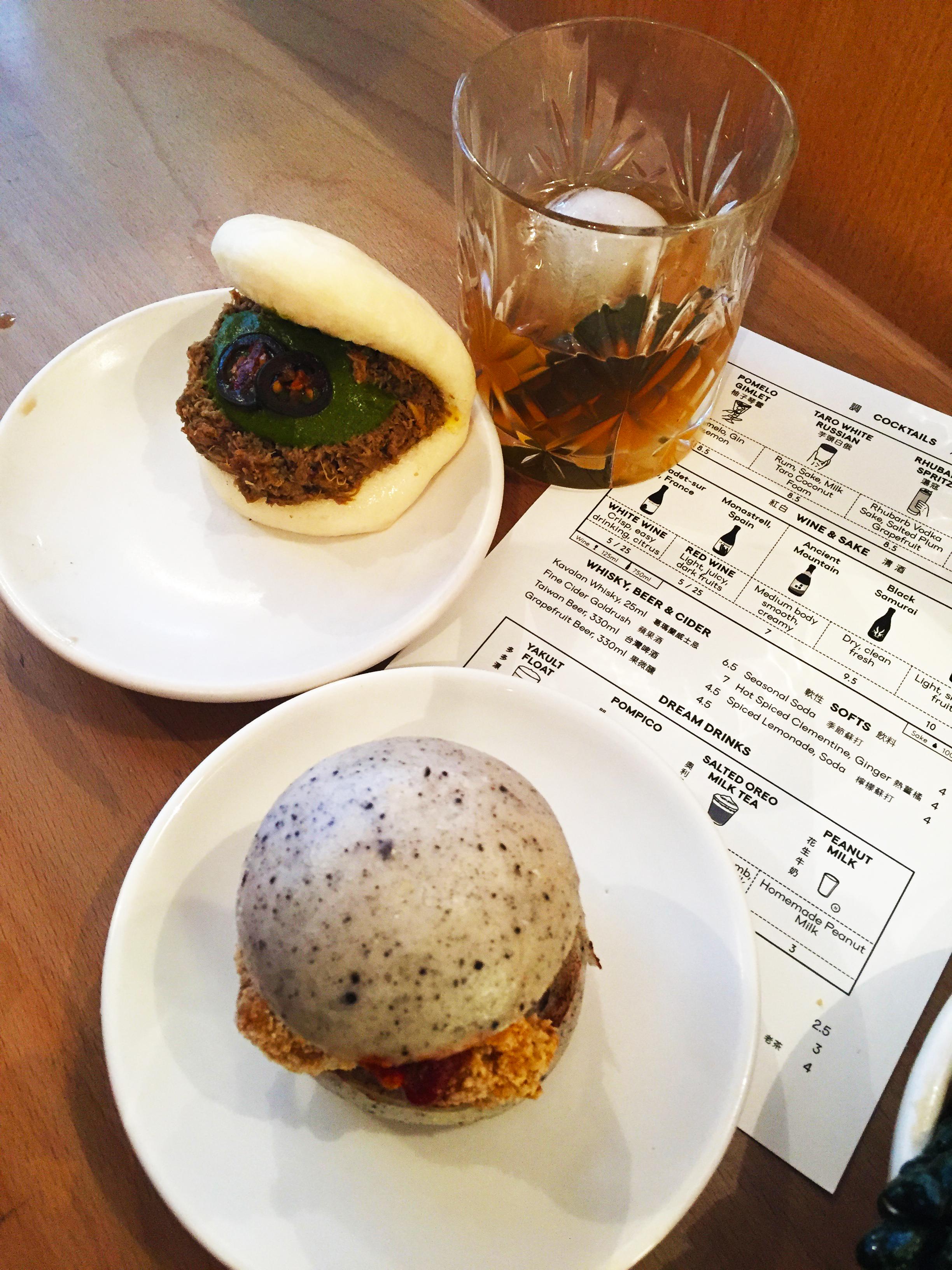 Delicious bao buns and a tasty cocktail at Bao Soho
