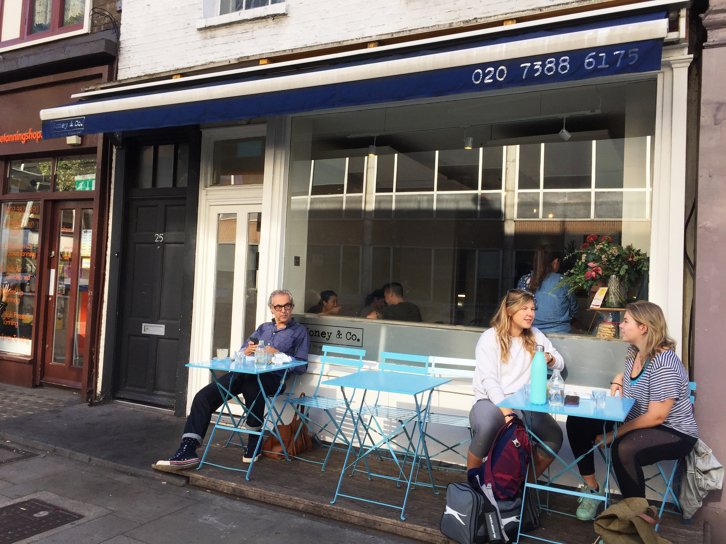 Guests enjoying lunch at Honey & Co.