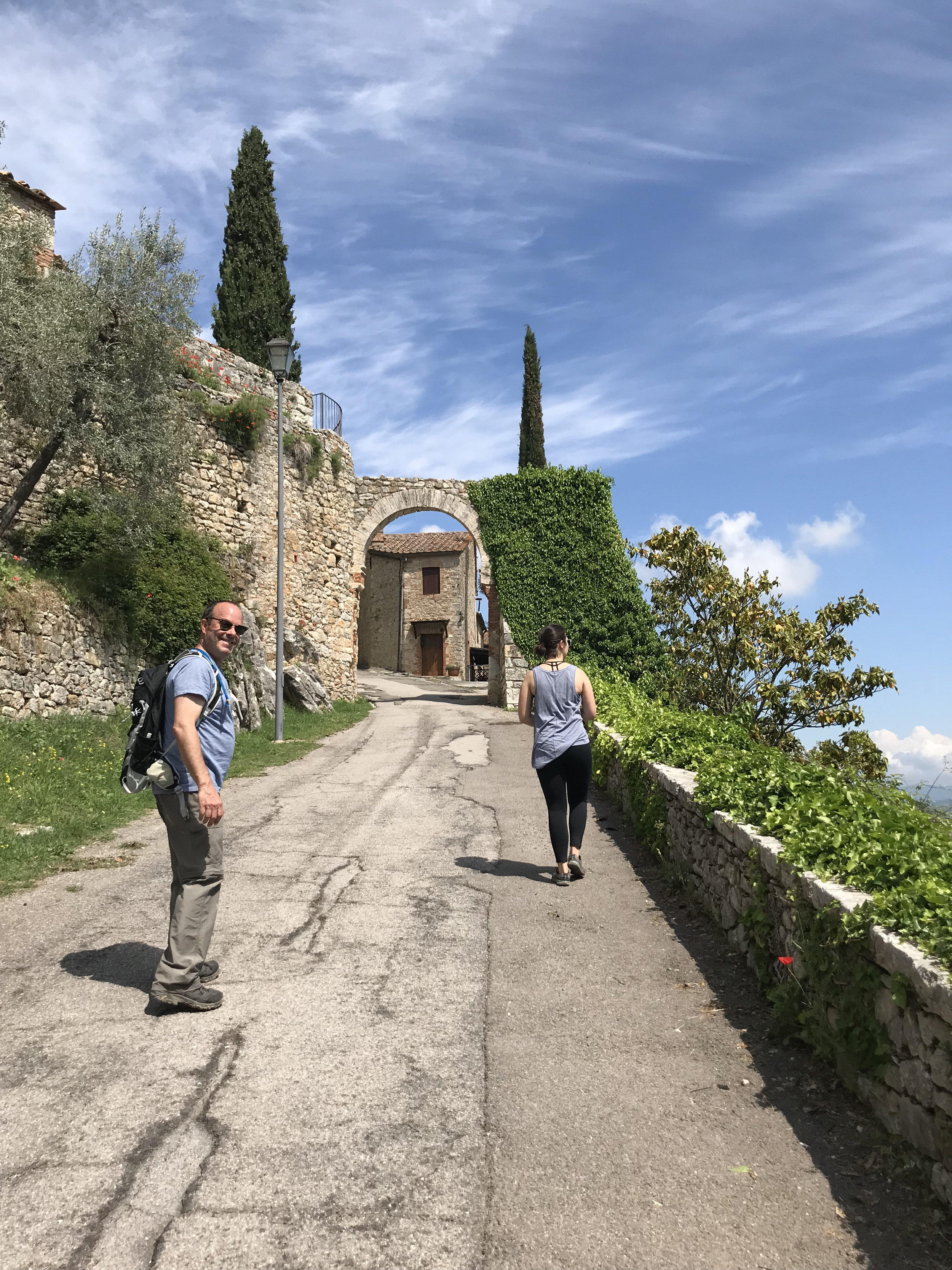 Hiking in Rocca d'Orcia during a small group tour of Tuscany