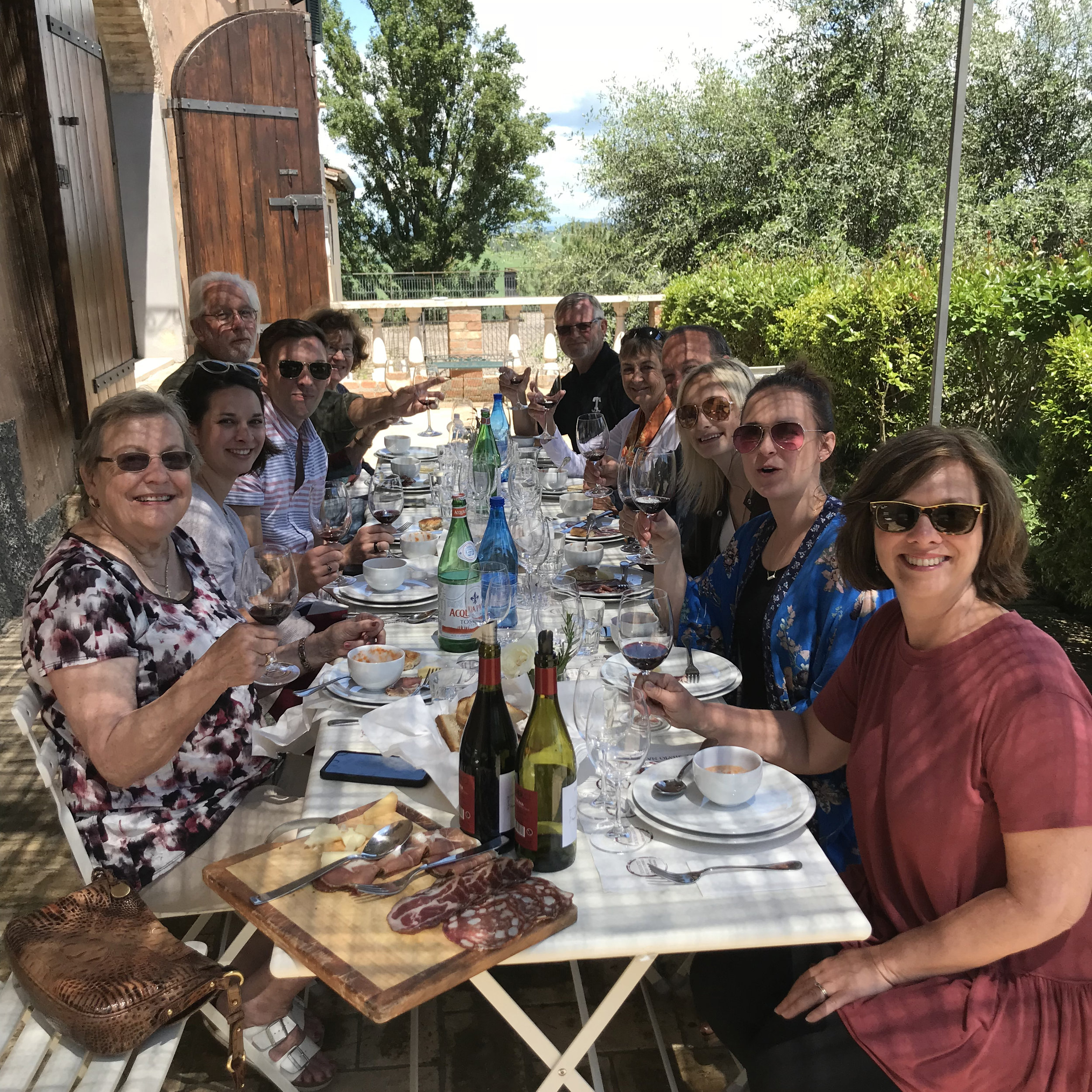 Lunch at Tenute Silvio Nardi during a small group tour of Tuscany