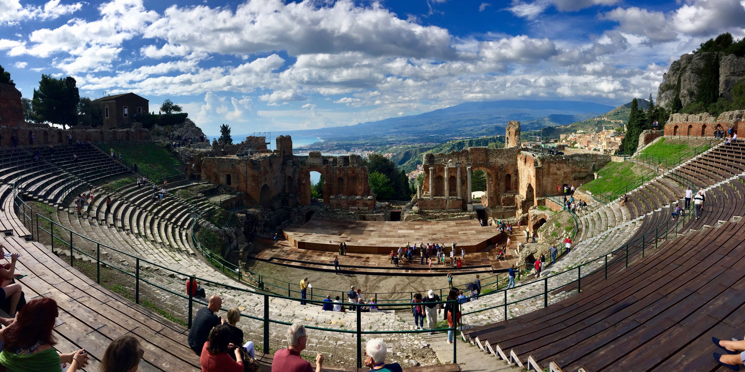 The amazing Ancient Greek Theater at Taormina