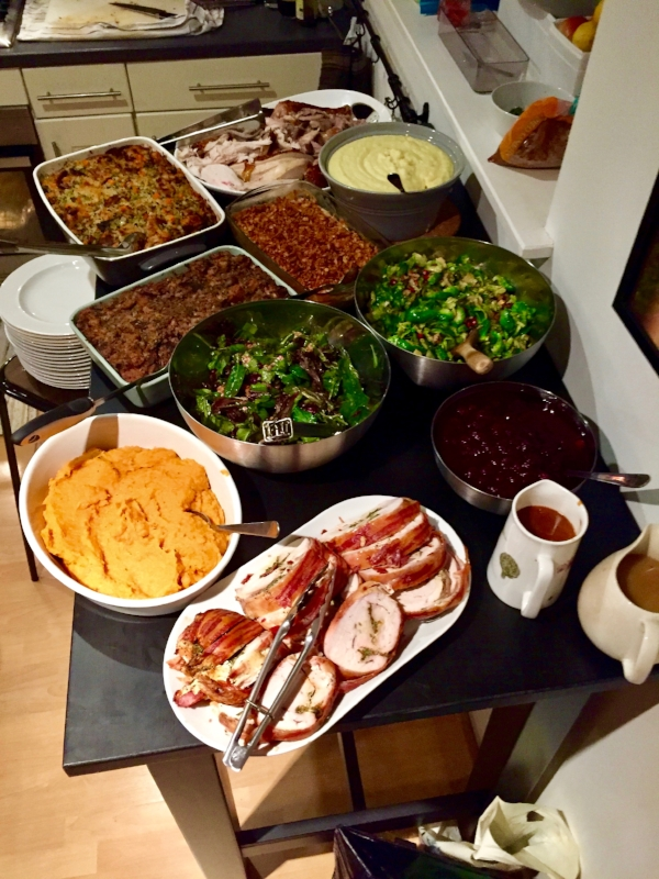 We have many things to be thankful for., Chelsea's cooking is one of them!