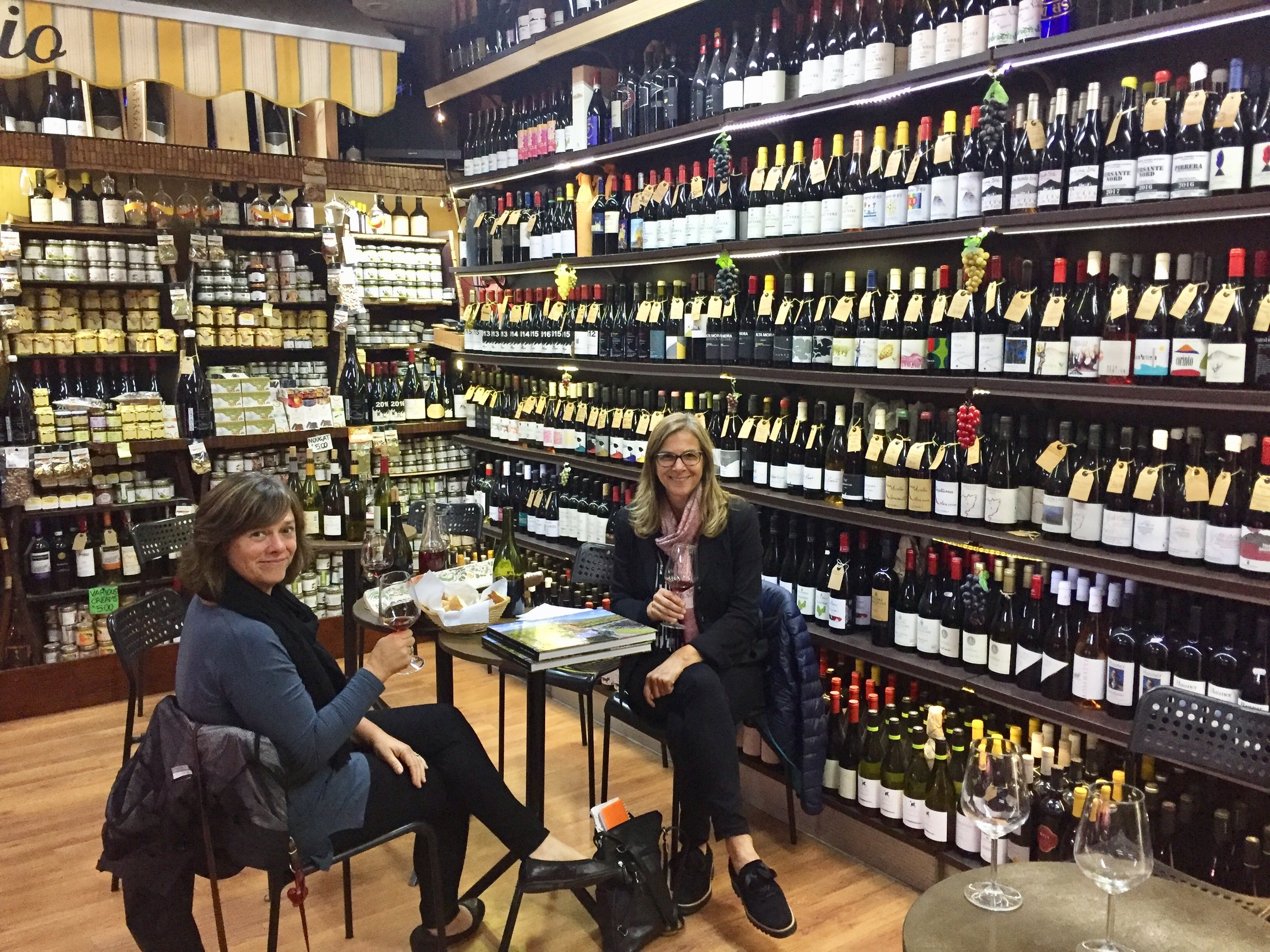 Surrounded by wine at Il Buongustaio d'Etna