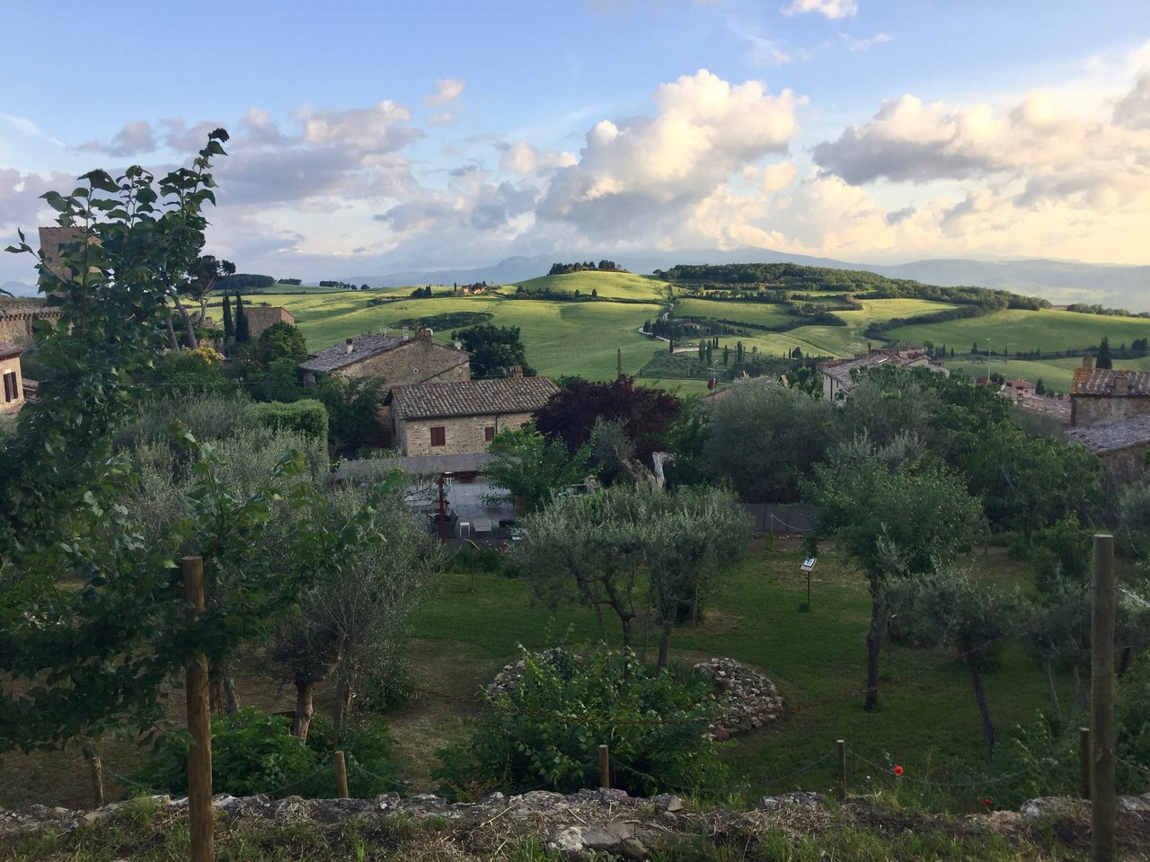 The beautiful Tuscan hills of the Val d'Orcia