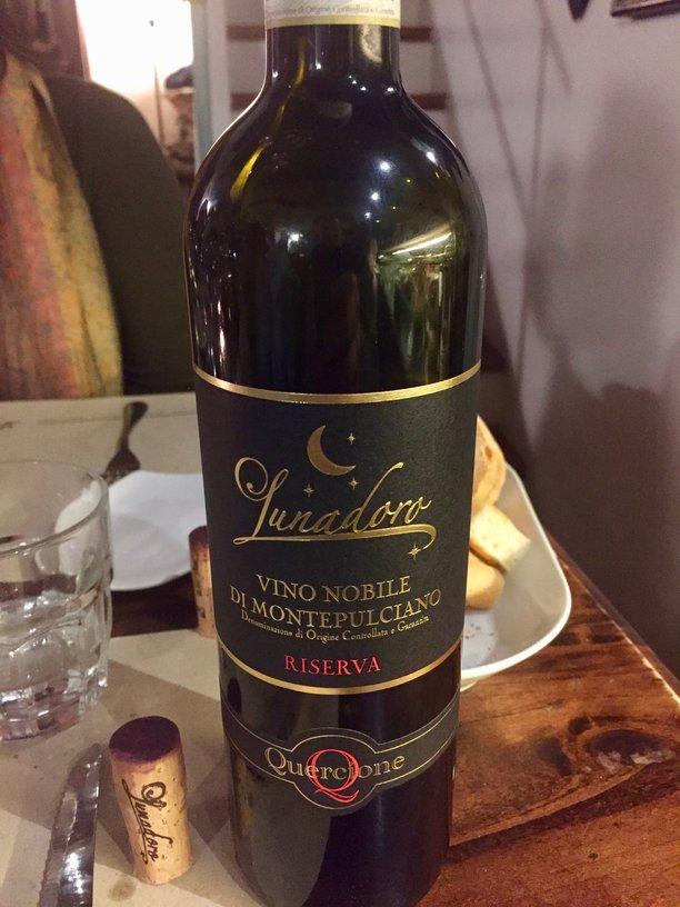 Our Lunadoro Vino Nobile at Ristorante Daria
