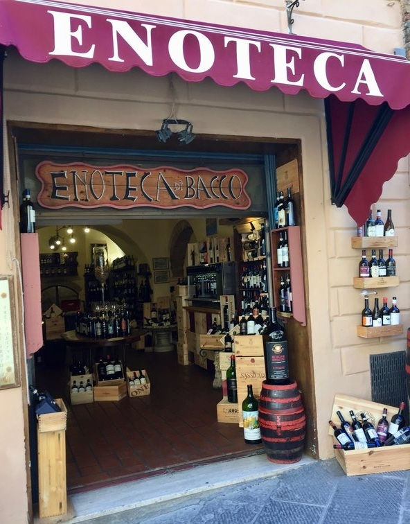 The streets of Montepulciano are lined with enotecas offering free tastings