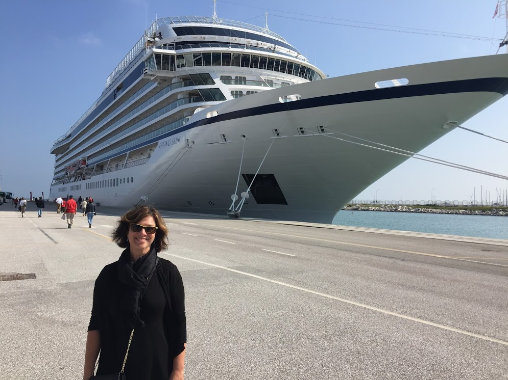 At port with Viking Ocean Cruises
