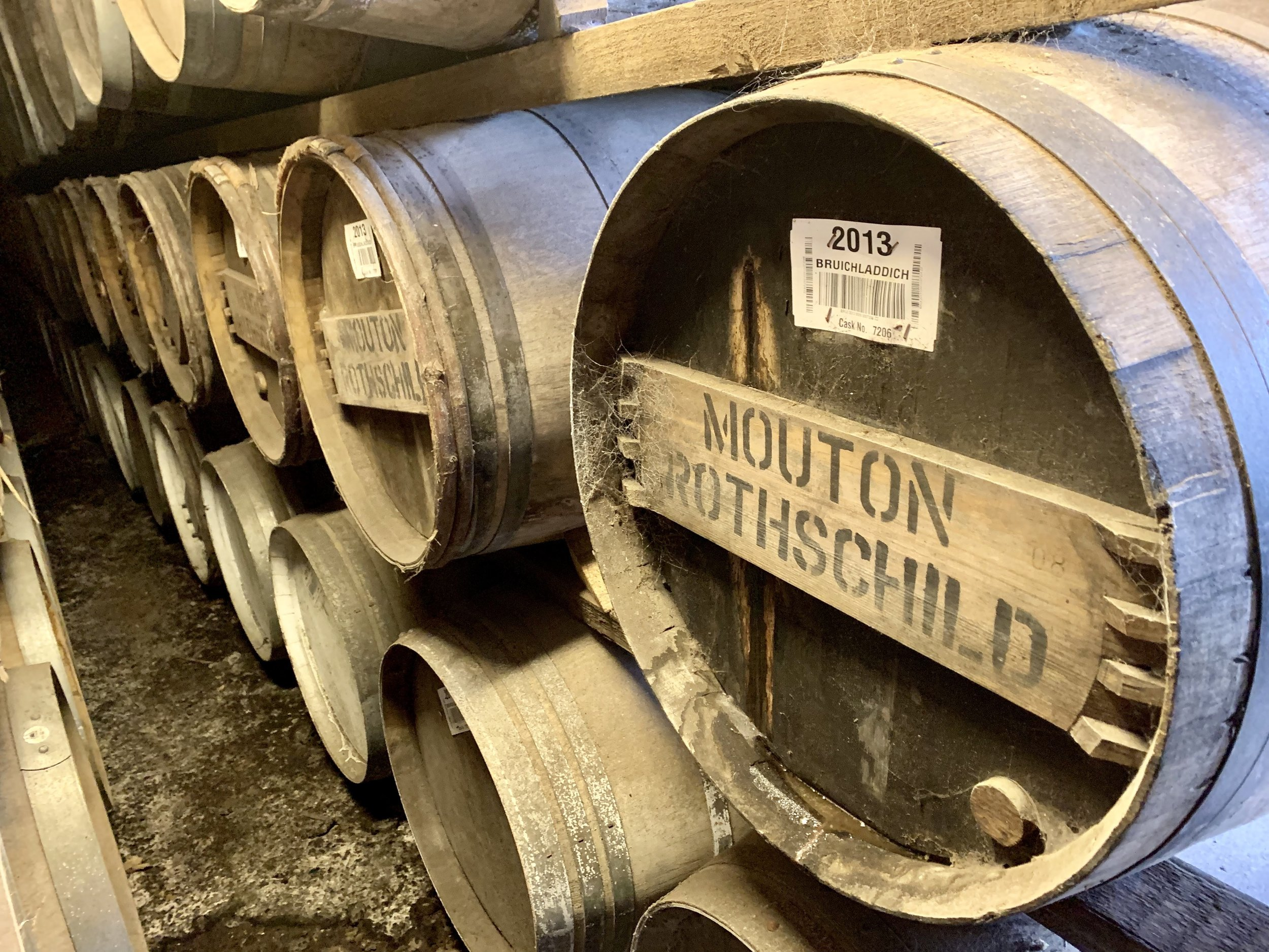The aging warehouse at Bruichladdich