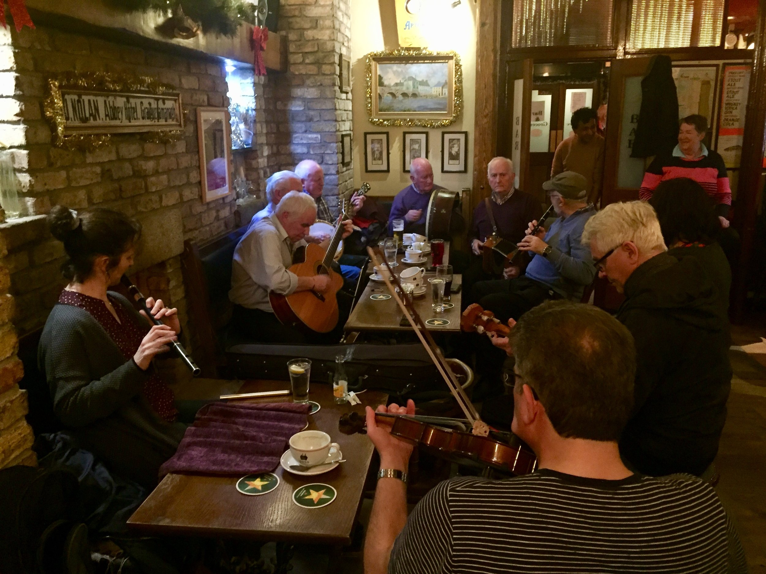 Traditional Irish music session at Mick Doyle's in Graiguenamanagh