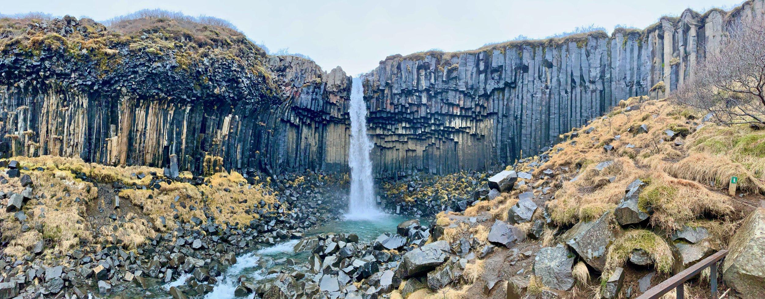 Svartifoss in Vatnajökull National Park, Iceland