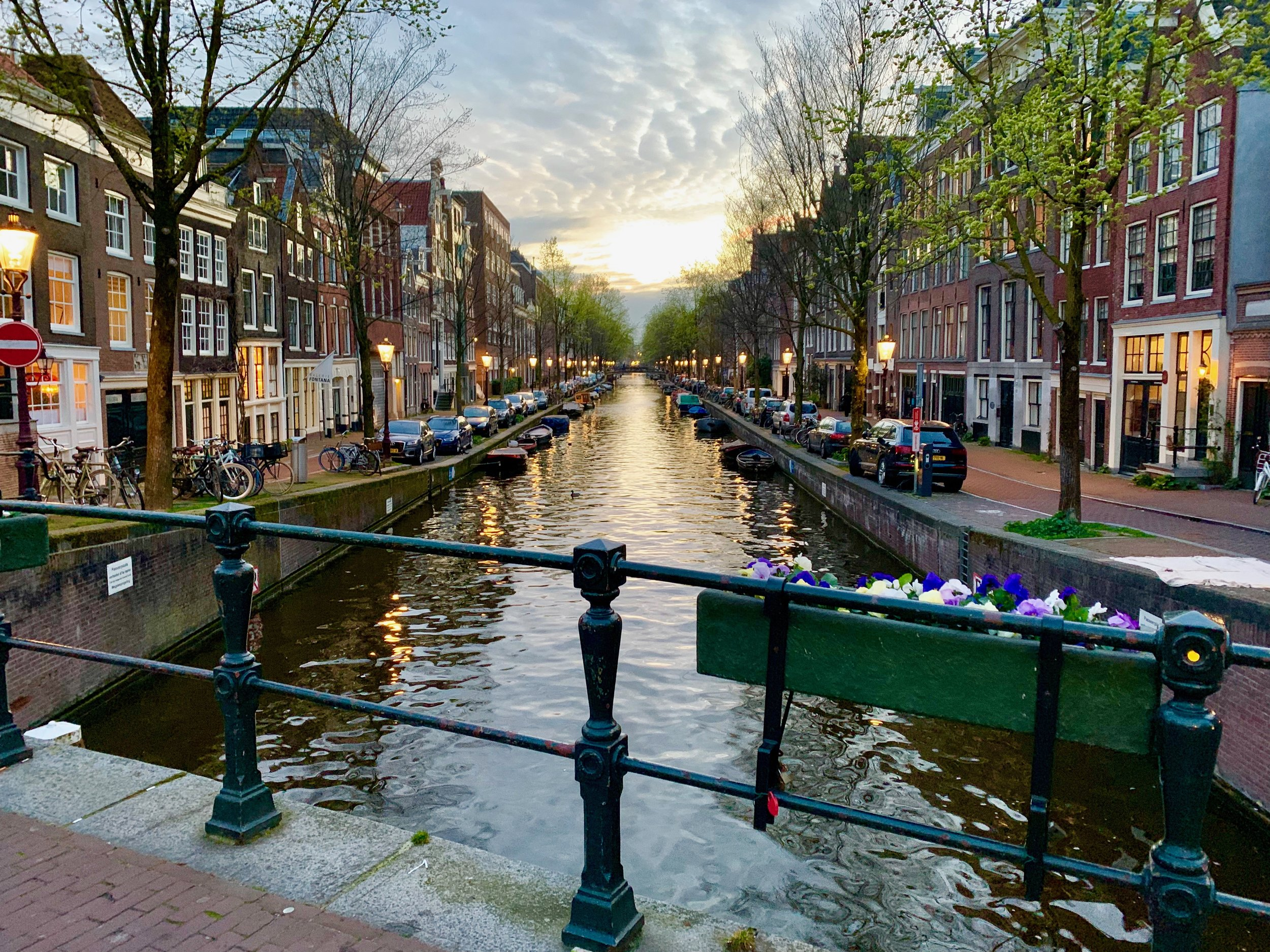 On the canals in Amsterdam